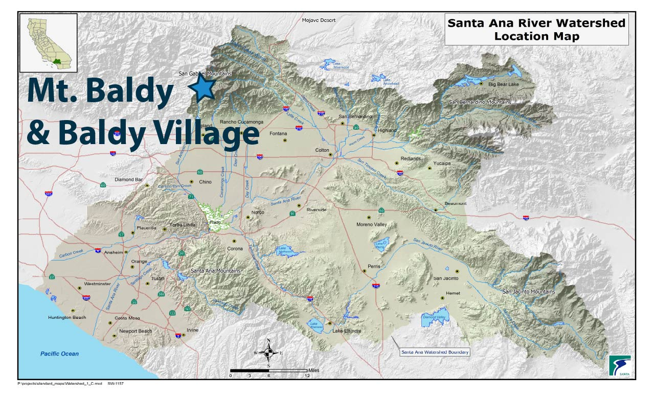 Beat The Heat In The Headwaters Your So Cal Tap Water - Mt baldy map on map of us