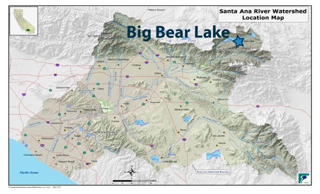 Santa Ana Watershed Map - Big Bear