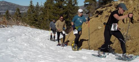 Snowshoe the Bear aims to draw people up to trails during the winter. Photo courtesy of the Big Bear Valley Event Resource Office.