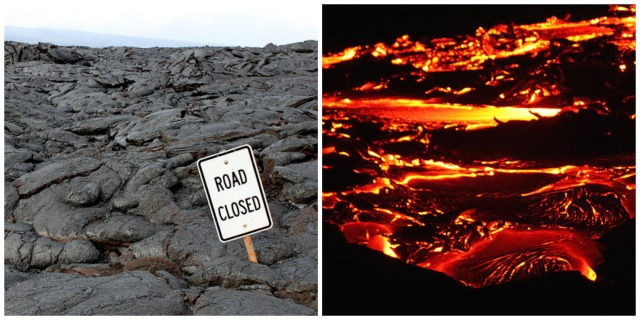 Chrom-6 often occurs naturally, for example, Hawaii has above average levels of Chom-6 in its water due to volcanic activity. Credits: Road Closed: Eli Duke https://flic.kr/p/88hSwG Red hot Lava: {Sara Ann} https://flic.kr/p/4FrgBm