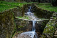 """Italy, Tuscany, Lucca, Acquedotto Nottolini, Nature walk on foot or by mountain bike Aqueduct and park """"At the Golden Words"""" about 4 kilometers, Via Francigena"""