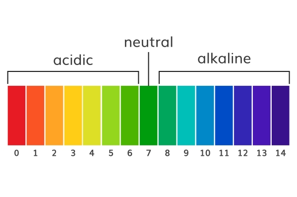 Alkaline Tap Water pH Scale